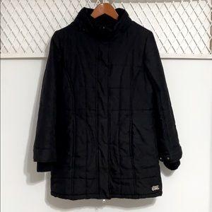 LA SENZA GIRL Longline Winter Jacket Coat Black